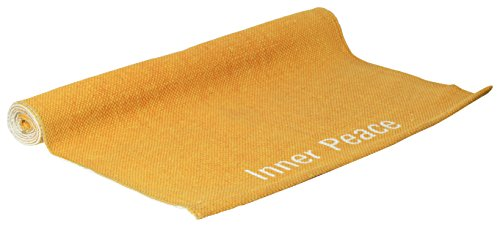 Anti-Skid Cotton Yoga Mat - OM - The Inner Peace, 72 x 24 inches