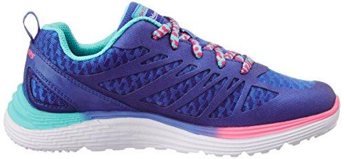 Skechers 816969L/BLNP Zapatillas De Deporte Chica Cuero/tejido Azul Azul