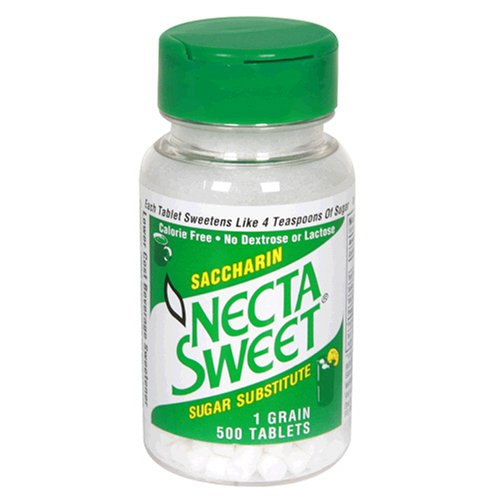 Necta Sweet Sugar Substitute Tablets, 1 Grain, 500-Count Bottle (Pack of 12)