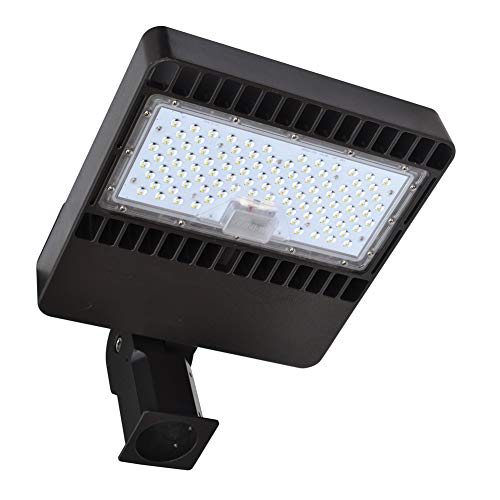 WedoLite LED Parking Lot Light 80W 10,000LM Commercial Led Light Fixture Slip Fitter Mount Waterproof LED Shoebox Lights for Docks Driveways Exterior LED Landscape Lighting AC 100-277V ETL& DLC Listed ()