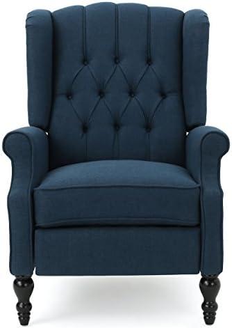 GDF Studio | Elizabeth | Button-Tufted Fabric Recliner Arm Chair |