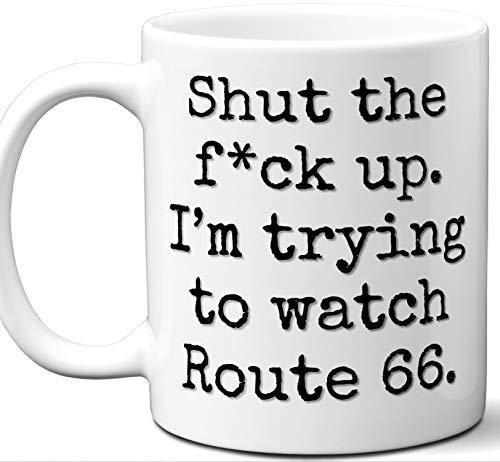 Route 66 Gift Mug. Funny Parody TV Show Lover Fan