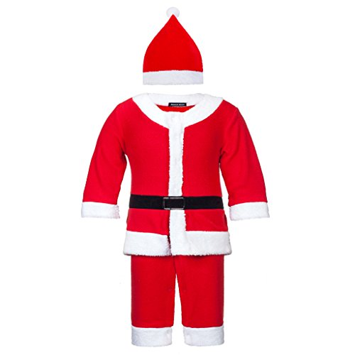 Seventies Fancy Dress (Adoy Kids Santa Romper Costume with Hat For Infant and Toddler Christmas Costumes (70(0-6Month), Red boy))