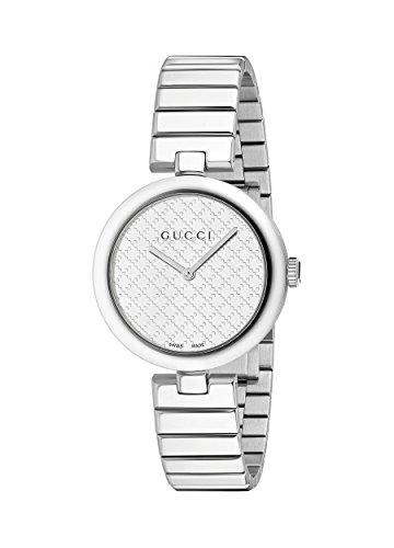 Gucci Women's Swiss Quartz Stainless Steel Dress Watch, Color:Silver-Toned (Model: YA141402)