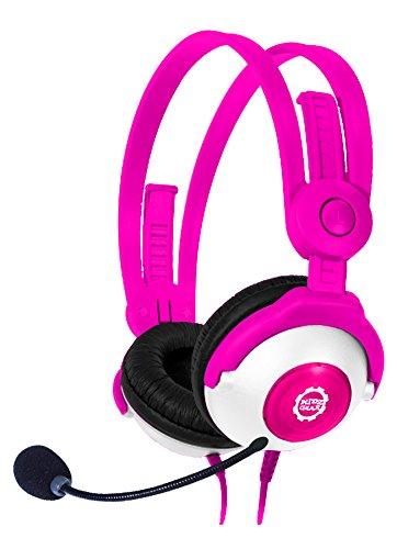 Kidz Gear Deluxe Headset Headphones with Boom Mic - Pink (Deluxe Mic)