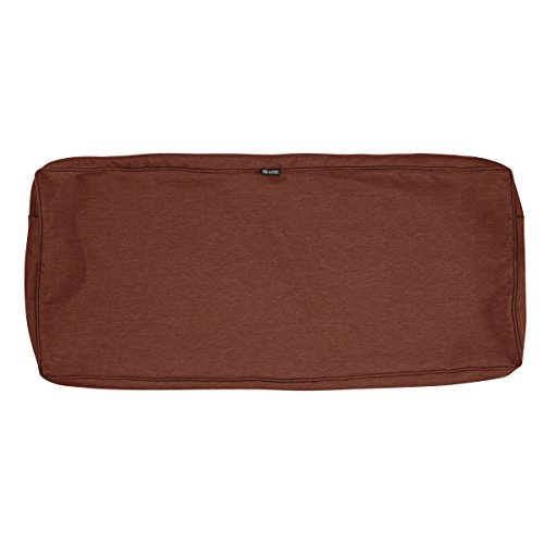 Classic Accessories Montlake Patio Bench Seat Cushion Slip Cover, Heather Henna, 42x18x3