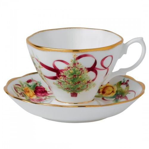 Old Country Roses Christmas Tree Teacup and Saucer Set (Christmas Saucer)