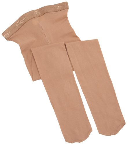 Capezio Little Girls' Hold & Stretch Footed Tight, Suntan, Intermediate (Medium-Small) - Girls Little Girl