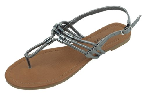 14027ea4d78 The Bay Womens Roman Gladiator Sandals Flats Thongs Shoes W Metal Trim -  Buy Online in Oman.