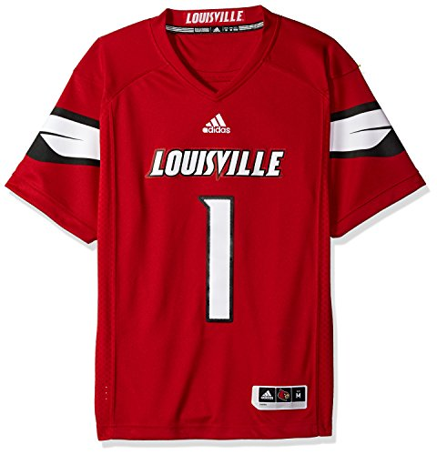 (NCAA Louisville Cardinals Adult Men Premier Football Jersey, Medium, Black)