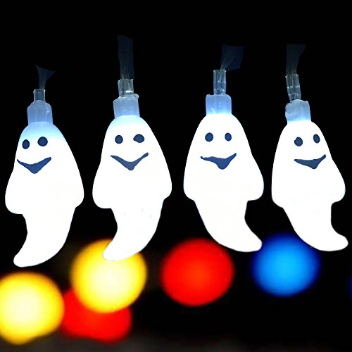 (Christmas Decoration Ghost String Lights Patio Lawn Garden Party and Holiday Decorations Themed Lights Waterproof 30 Leds 18ft)