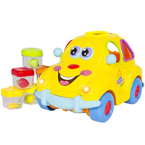 Best Choice Products Kids Electric Car Toy with Flashing Front & Back Lights and Music, Bump and Go, Shape Sorter