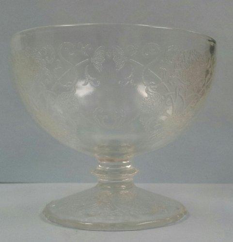 Tall Sherbet - Florentine No.1 Pattern - Depression (Hazel Atlas Depression Glass)