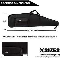 AUMTISC Estuche de Rifle Rifle de Alcance Suave Escopeta Caza Disparo Caza de Rifle Accesorios Bolsa 44 Pulgadas Negro: Amazon.es: Deportes y aire libre