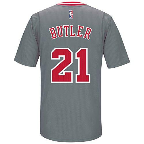 Jimmy Butler Chicago Bulls Adidas Swingman Gray Jersey (M)