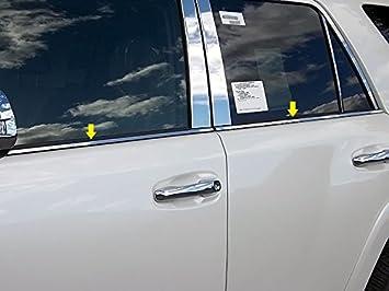 WP10177 QAA FITS 4RUNNER 2010-2019 TOYOTA 14 Pc: Stainless Steel Window Trim Package w//pillar trim, 4-door, SUV
