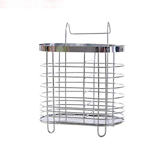 GXOK Stainless Steel Hanging Bucket Chopsticks Storage Rack Kitchen Rack Chopsticks Shelf (Size C)
