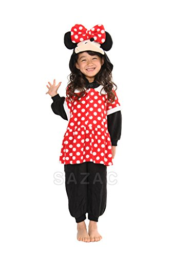 3 Chipmunks Costume (Minnie Kids Kigurumi (2-5 Years))