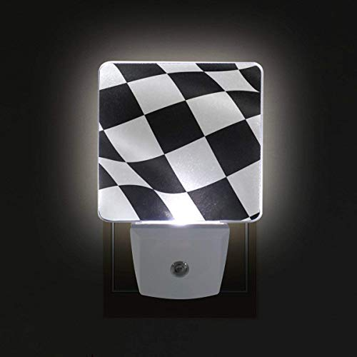 xiaodengyeluwd 2 Pack Checkered Flag Plug in LED