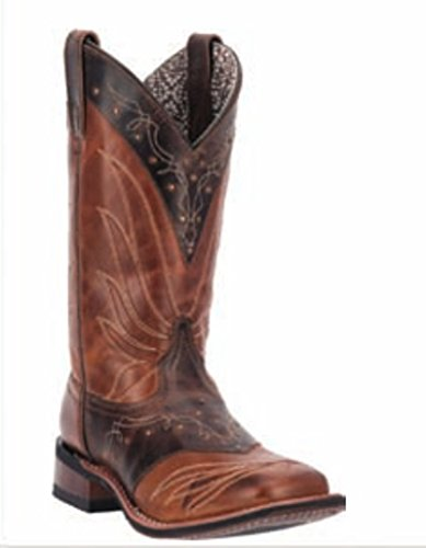 Leather Tan Laredo Adobe Collar Womens Western Cowboy Brown Boots SS6ZXfwq