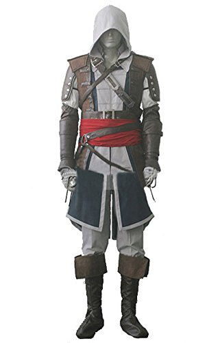 Men's Assassin's Creed 4 Edward Cosplay Costume Cloak L