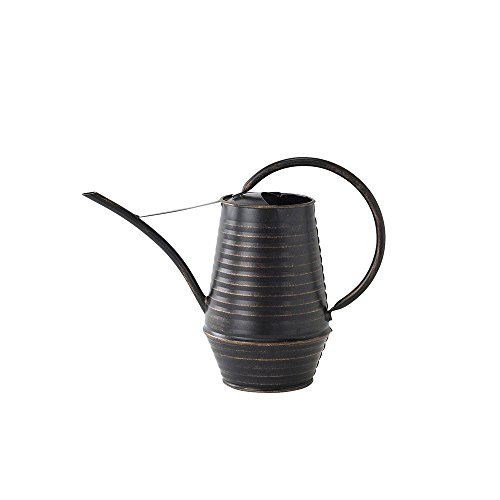 Time Concept Classical Metal Watering Can - 1 Liter - Antique Style Plant Tool, Home/Lawn/Garden Essential