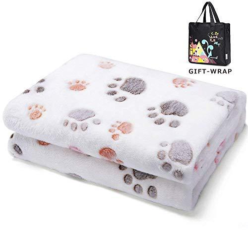 Allisandro® Super Softe Warme und Weiche Decke für Haustier Hundedecke Katzendecke Fleece-Decke/Tier Schlafdeck Überwurf für Hundebett Sofa und Couch- Gr.