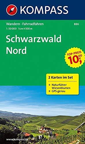 Schwarzwald Nord, Wanderkarten-Set mit Naturführer in der Schutzhülle. 1:50000 GPS-genau Landkarte – Folded Map, 1. November 2015 KOMPASS-Karten GmbH 3850266540 Alpinismus Berg / Bergsteigen