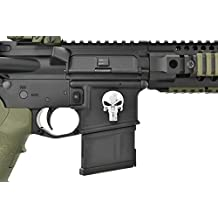 Hades Tactical Metal Decal Punisher Skull for Lower Receiver Magwell Sticker