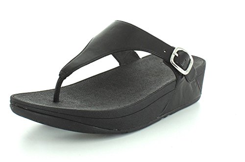Fitflop the Skinny, Chanclas para Mujer Completamente negro