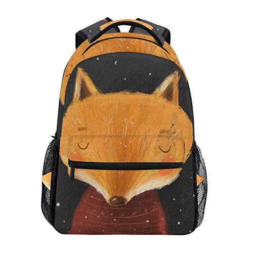 TropicalLife Cartoon Fox Animal Backpacks School Bookbag Shoulder Backpack Hiking Travel Daypack Casual Bags