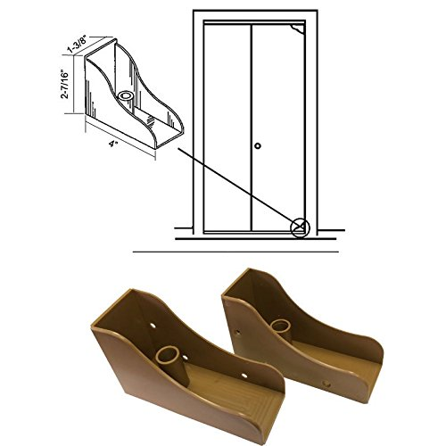 Closet Door Savers Bi-Fold Closet Door Pivot Pin Repair Kit - Light Oak