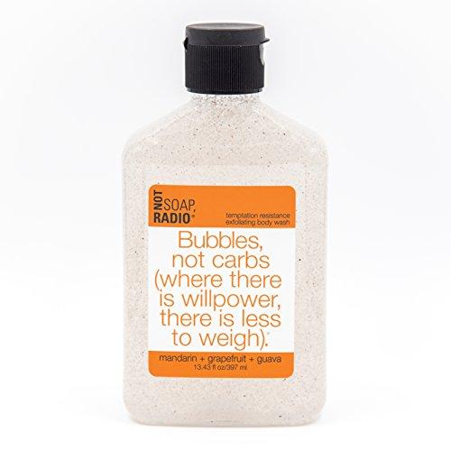 Exfoliating Body Wash - Mandarin, Grapefruit, & Guava - Temptation Resistance Formula - 13.4 oz ()
