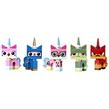 Amazoncom Lego Movie Unikitty Collection Set Of 5 Unikitty