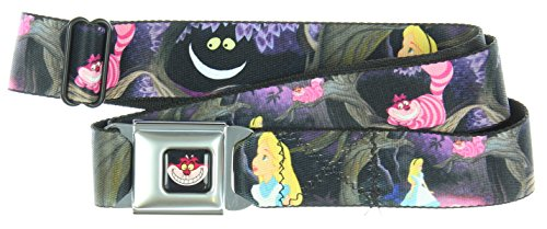 Walt Disney Seatbelt Belt - Alice in Wonderland - Cheshire Cat on Tree (Cat On Alice And Wonderland)