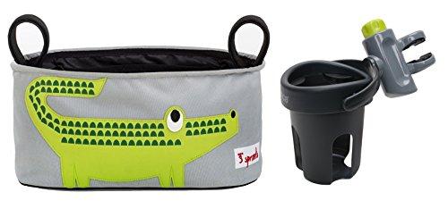 3 Sprouts Stroller Organizer with Brica Drink Pod, Crocodile