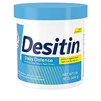 Desitin Daily Defense Crema para la erupción del pañal del bebé con óxido de zinc para tratar, aliviar y prevenir la erupción del pañal, 16 oz