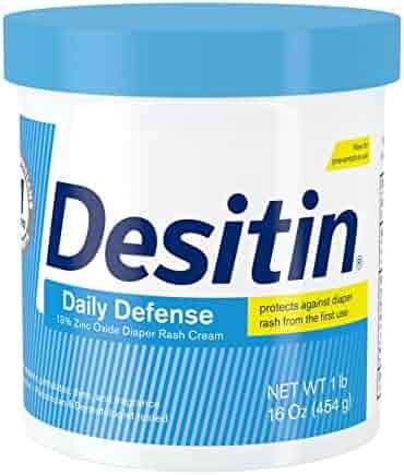 Desitin Daily Defense Baby Diaper Rash Cream with Zinc Oxide to Treat, Relieve & Prevent diaper rash, 16 oz
