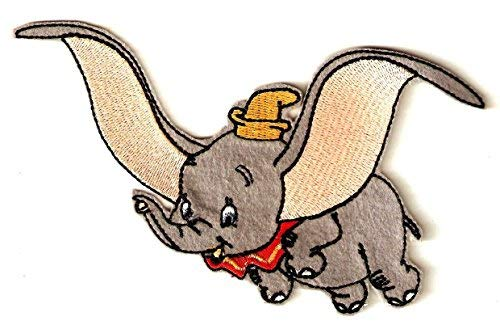 (Dumbo the flying elephant Embroidered Iron On / Sew On Patch ~ Disney Movie )