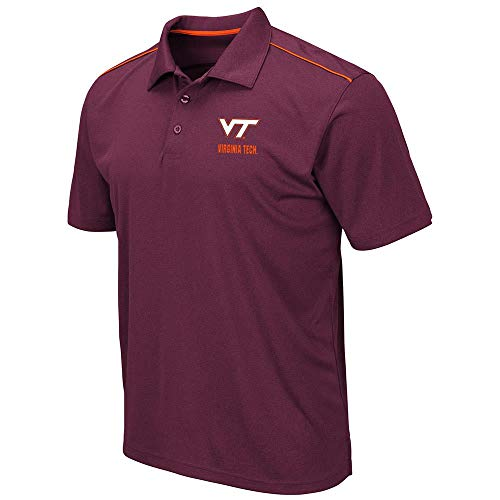 Mens Virginia Tech Hokies Eagle Short Sleeve Polo Shirt - 2XL