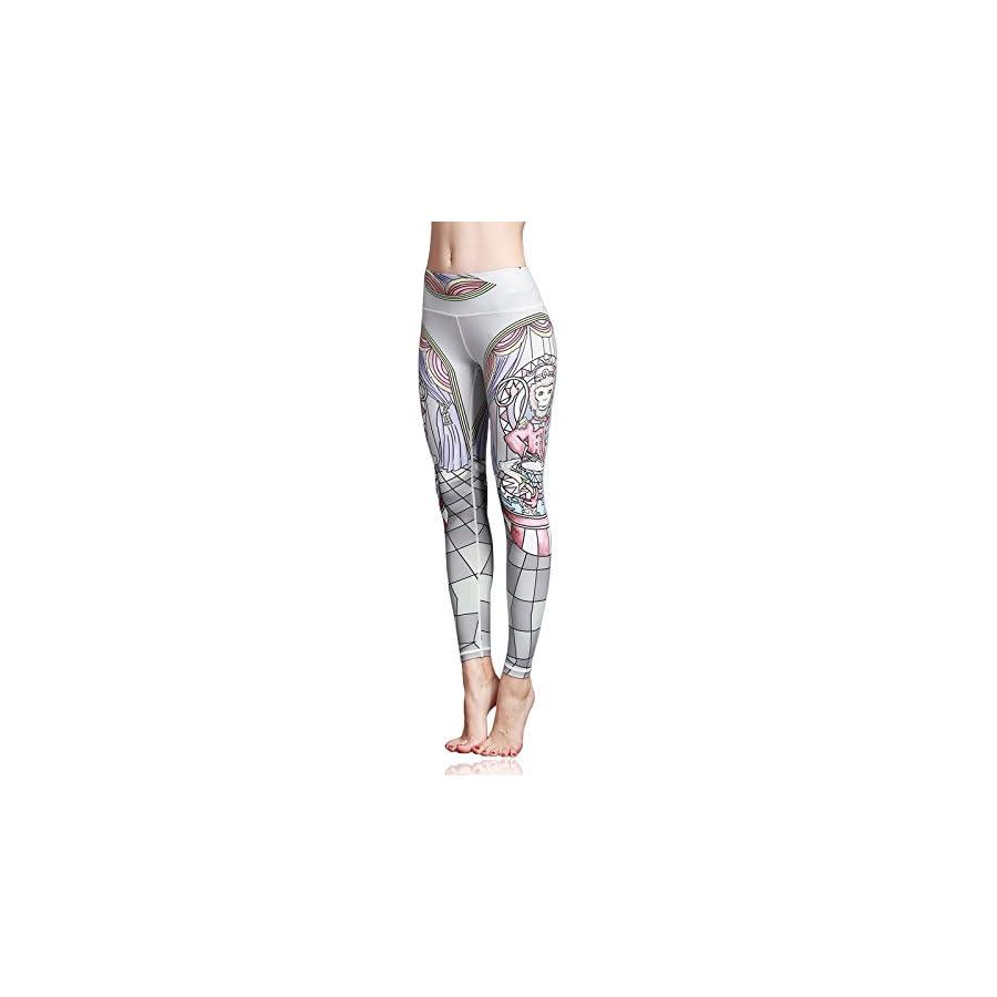 Doris Boutique us Fashion Printed Yoga Workout Stretch Leggings Patterned Pants