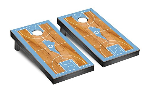 NCAA North Carolina Tar Heels UNC Basketball Court Version Cornhole Game Set - College Basketball Board Game