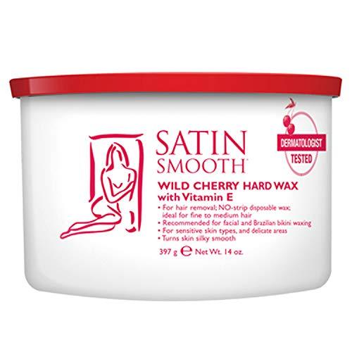 Satin Smooth Wild Cherry Hard Wax (Strip-less) 400g (14 oz) Can