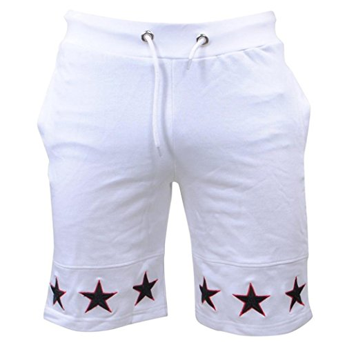 Clearance! OVERMAL Cargo Shorts Mens Star Casual Pocket Beach Work Casual Short Trouser Shorts Pants (XXL, White) by Clearance! OVERMAL
