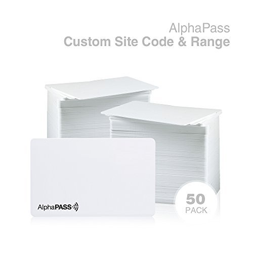 Same Day Custom Programmed Alphapass Pvc Proximity Card For Access Control  Replaces Hid 1386 Isoprox Ii Cards  Standard 26 Bit H10301 Format  Choose Your Facility Code   Range   50 Pack