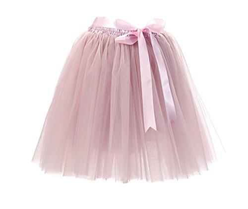 jupon Mi Tulle Petticoat Pettiskirt Pink Pliss Tutu En Ballet Jupe Jupe Femme 8 Couches Courte Jupon longue Gris 0wHxqP