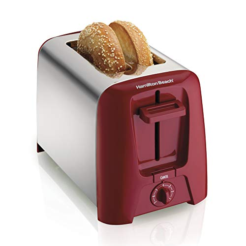 Hamilton Beach 2 Slice Extra-Wide Slot Toaster with Shade Selector, Toast Boost, Auto Shutoff, Red (22623)