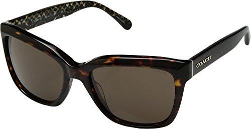 COACH Women's 0HC8230 57mm Dark Tortoise/Dark Tort One - Coach Sunglasses Case