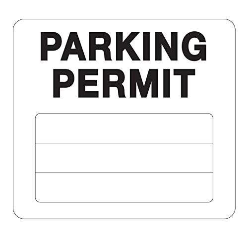 Parking Permit Pass Stock Static Cling Windshield Sticker Non-Adhesive for Employees, Tenants, Students, Businesses, Office, Apartments, by Milcoast, 10 Pack ()