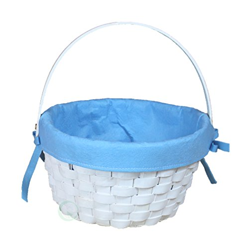 Vintiquewise White Painted Woodchip Basket product image